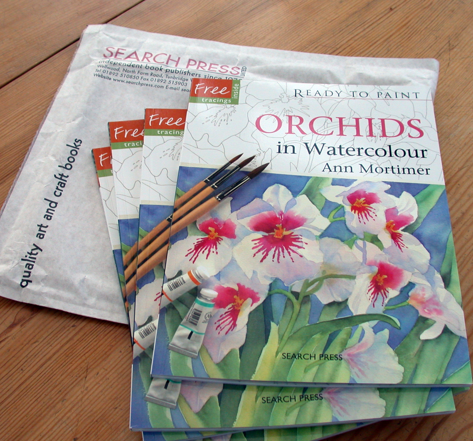 Watercolor books by search press - New Book Ready To Paint Orchids In Watercolour