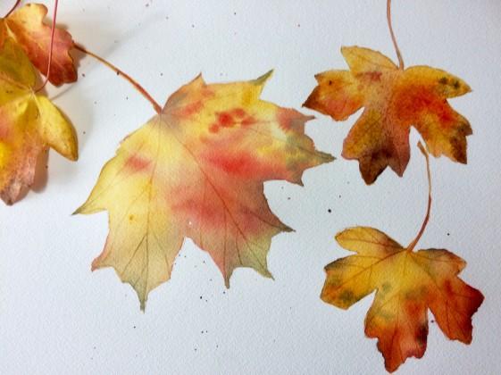 leaves painting adj